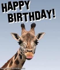 HAPPY BIRTHDAY TO MY GIRAFFE!!!