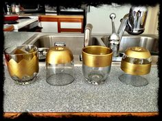 Reuse and Repurpose: Glade Candle Jars  For trinket cups!