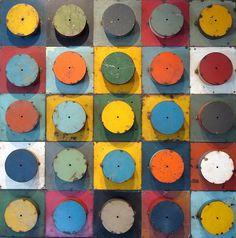 lolafiesta:  David Buckingham, Color Study #11(recycled metal, 35 x 35)