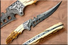 "The Raptor--by Dusty Moulton Overall Length: 11 3/4"" Blade Length: 6 7/8"""