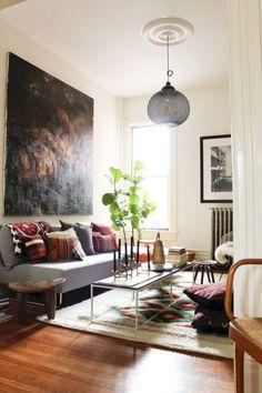 10 Gorgeous Bohemian Style Living Room Decor Ideas