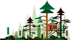 The Illustrations of Patrick Hruby: treehouse book cover illustration for Taschen.