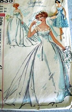 late 1950s sewing pattern