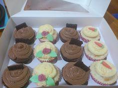 Cupcakes de chocolate y de zanahoria