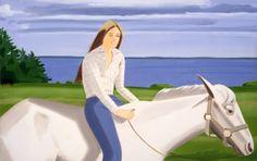 Alex Katz, Jean on Horse, Oil on linen, 1976 190.5 x 304.8 cm                                                                                                                               O...