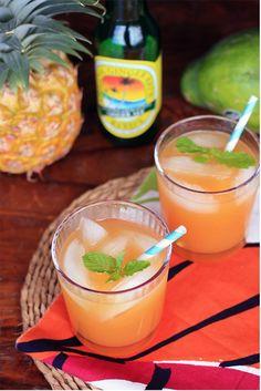 glasses, pineappl, alcohol, ginger mocktail, coolers, ginger beer, gingers, cocktails, ginger cooler