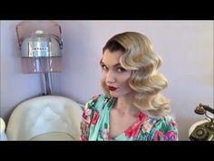 Classic Old Hollywood Waves Hair @ The Vintage Beauty Parlour, Manchester - YouTube