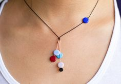 I. Ronni Kappos Necklace: Multi-disks in Blue Tones Room 2046 ...