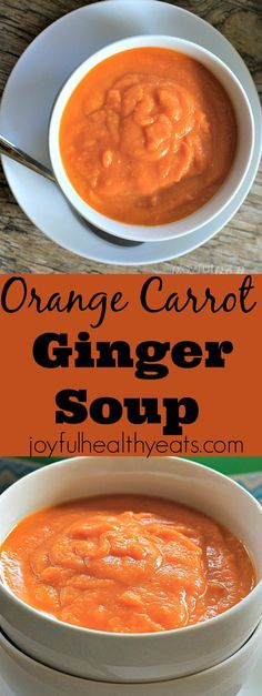 If you need a soup that is loaded with nutrients then this Orange Carrot Ginger Soup is your answer! Loaded with Vitamin A and C you're sure to feel better if you're feeling under the weather! | joyfulhealthyeats.com