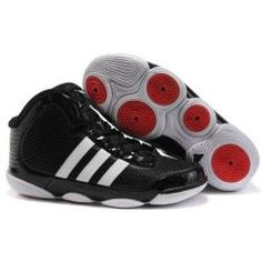 Adidas TS adiPure mens basketball black/white-red shoes | 3K-Store