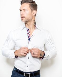 Hello Friends ,#Maceooshirts have attracted the bespoke and fashion forward with their unique, stylish designs. Sexy, sophisticated and expressive, These are our #saledressshirts.  They are slim fit and are designed with unique details to inspire confidence and set you apart from the rest. FRANCK MICHEL shirts size 1 to 2 sizes smaller than regular US size,