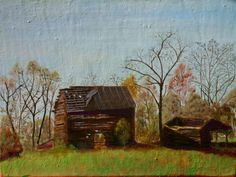 "After Tobacco 3, oil on linen, 2016, 12"" x 16"" I've returned to this barn a few times - the scene seems to resonate with the changes in WNC farming in the decades I've been here."