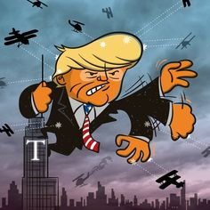 Donal Trump on the campaign trail in NYC. #trump2016