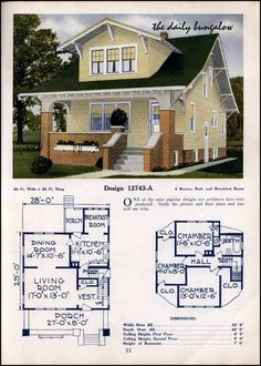 ideas vintage home plans porches Craftsman Bungalow Exterior, Craftsman Style Homes, Craftsman Bungalows, Craftsman House Plans, Craftsman Kitchen, The Plan, How To Plan, Home Design Floor Plans, House Floor Plans