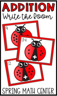 Practice addition facts with sums to 10 with these spring themed task cards! They are a perfect math center!