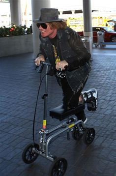 Axl Rose's mode of transportation was a little better in the late '90s.