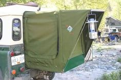 Landrover defender Back door tent. Landrover Defender, Landrover Camper, Defender Camper, Land Rover Defender 110, Truck Camper, Defender 90, Land Rover Camping, Jeep Camping, Land Rovers