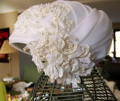 1950s wedding hat turban modernist cloche NOS by AntiqueAddictions, $89.99  Makes you want to get married all over again!
