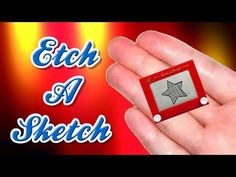 DIY Miniature Etch a Sketch - How to Make LPS Crafts, LPS Stuff, Doll Accessories & Dollhouse Things - YouTube