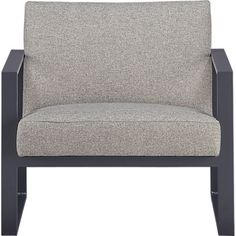 We have one of these. The upholstery color is medium dark gray.