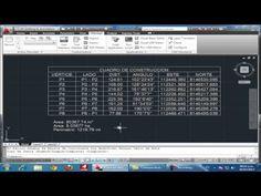 Dibujar Rapido Cuadro de datos tecnicos o Cuadro de Construcción de coordenadas de poligono - YouTube