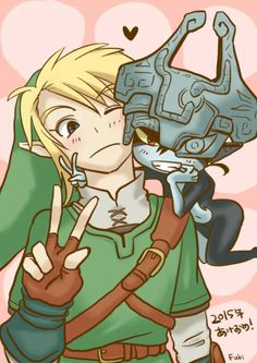 Midna just loves to get in your space. XD