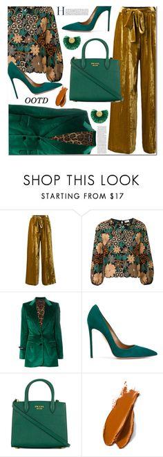 """OOTD"" by jan31 ❤ liked on Polyvore featuring Roberto Collina, RED Valentino, Dolce&Gabbana, Aquazzura, Prada, Balmain, Katerina Makriyianni, Pumps, autumn and jackets"