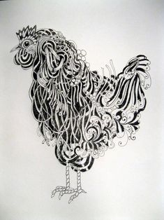 Zentangle Rooster!...love it!