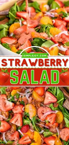 This easy salad idea will be your go-to side dish! Tossed in poppyseed dressing with bacon and spinach, this fresh strawberry salad recipe is great for weeknight dinners and serving guests. Pin this…