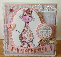 Kelly's Cards: birthday giraffe
