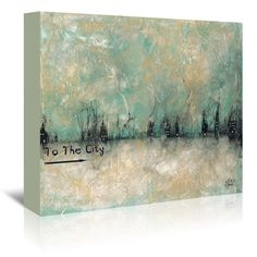East Urban Home To the City by Britt Hallowell Painting Print on Wrapped Canvas Size: