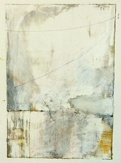 Rebecca Crowell - White Field 2014, monotype and mixed media, 6x4 inches
