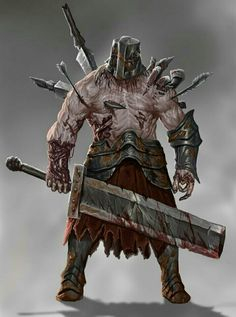Zombie Soldier Brute   - Pathfinder PFRPG DND D&D d20 fantasy