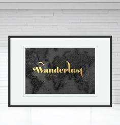 Wanderlust A3 Framed Print
