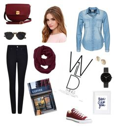 """Dash of Red"" by jessmarrriee on Polyvore featuring Vero Moda, Armani Jeans, Converse, The Code, Lulu*s, Christian Dior, Athleta, Kate Spade, I Love Ugly and Coffee Shop"
