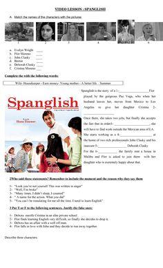 Movie Worksheet: Spanglish