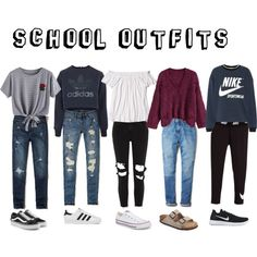 Untitled #2 by pepsi12 on Polyvore featuring NIKE, adidas, WithChic, Hollister Co., Calvin Klein, River Island, Vans, Birkenstock and Converse