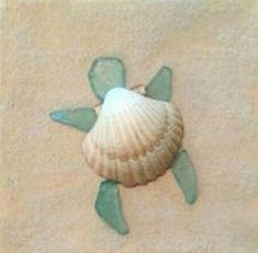 Beach Glass art Projects - Sea Glass art On Wood - - Glass art Videos DIY - Sea Glass art Anchor Sea Glass Crafts, Sea Crafts, Sea Glass Art, Sea Glass Jewelry, Sea Turtle Crafts, Sea Glass Decor, Sea Glass Mosaic, Sea Art, Stained Glass