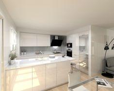 Una cocina luminosa y actual | Docrys Cocinas Home Interior Design, Kitchen Design, Kitchen Diner, Lighted Bathroom Mirror, Best Kitchen Designs, Interior, Kitchen Diner Extension, Kitchen, House Interior