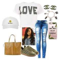 """Don't even start"" by slayqueenk ❤ liked on Polyvore featuring Pilot, MCM, adidas Originals, Casetify and Chanel"