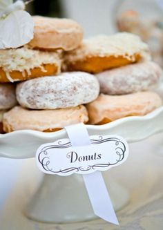 Wedding donuts dessert bar - Perfect for my donut obsessed future husband!