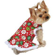 SimplyDog Ornament Print Dog Dress, Multiple Sizes Available