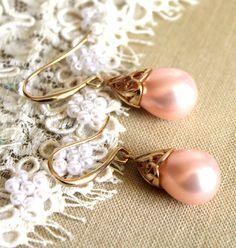 Champagne pearls via Etsy.