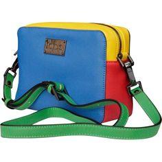 Pre-owned Jc De Castelbajac Handbag ($240) ❤ liked on Polyvore featuring bags, handbags, multicolour, women bags handbags, blue purse, blue handbags, hand bags, multi colored handbags and man bag
