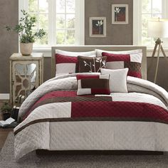 Features:  -Quilted.  -Comforter and Sham: 100% polyester microsuede solid pieced with quilted 100% polyester brushed fabric back, 270g/m2 poly fill.  -Machine wash cold, gentle cycle, and separately.