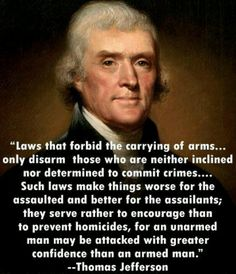 Thomas Jefferson's view on disarming Americans