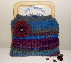 Northern Lights Belmont Bobble Bag  crochet by kathyskrochetnook,