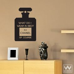 Chanel No.5 Marilyn Sexy Glam Saying Quote Vinyl Wall Decal Sticker | Wallternatives