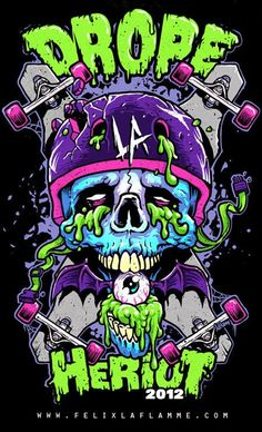 Drope La Heriot 2012 – Graffiti World Graffiti Art, Graffiti Wallpaper, Graffiti Painting, Skull Wallpaper, Art And Illustration, Zombie Illustration, Illustrations, Psychedelic Art, Arte Dope