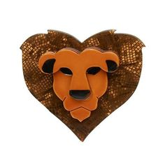 Women :: Erstwilder: New Release! :: Erstwilder: Lionheart brooch - Hug Me Harry Art Nouveau, Art Deco, Jack Rabbit, Quirky Gifts, Cute Pins, Resin Jewelry, Jewellery, Blue Bird, Scooby Doo